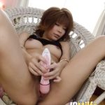 Horny Junna Hara Plays With Her Hairy Pussy