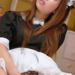 Slutty Maid Ami Kurosawa Fingers Pussy Trough Panties Pic
